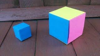 Поделки Из Бумаги| Простые Оригами Куб в Школу и Коробочка Своими Руками Для Детей и Родителей