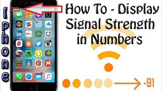 How to Change Signal Bar on iPhone - Iphone Field Test Mode - dB Meter Guide
