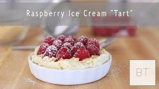 "Raspberry Ice Cream ""Tart"" 