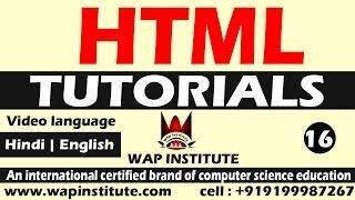 html formatting tags