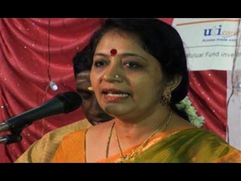 Vijayalakshmy Subramaniam, a Carnatic vocalist