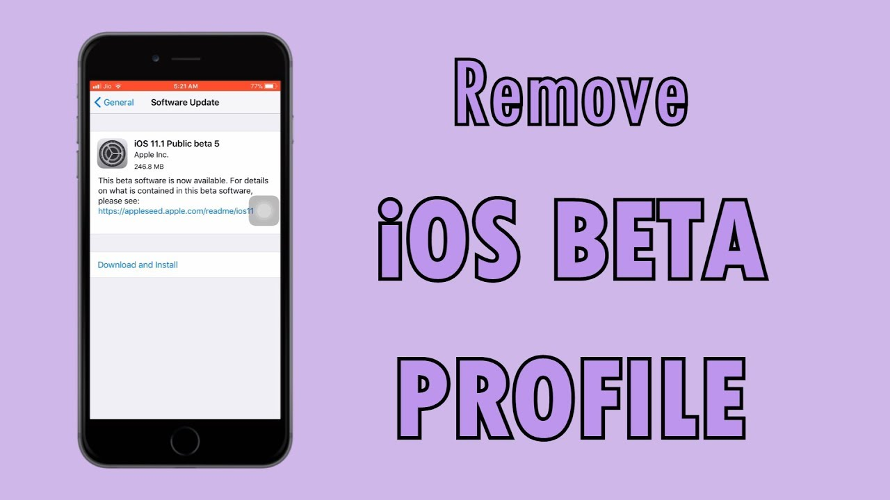How To Remove iOS Beta Profile From iPhone or iPad