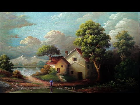 Classical oil painting landscape with yasser fayad youtube for How to start oil painting