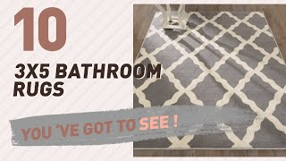 3X5 Bathroom Rugs Collection // New & Popular 2017