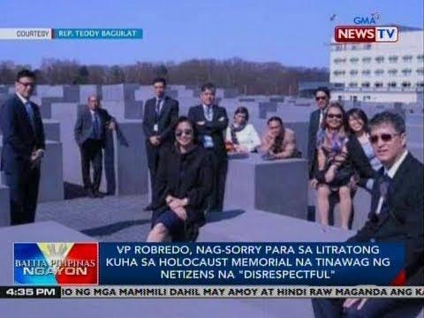 VP Robredo, nag-sorry para sa litratong kuha sa holocaust memorial