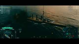 World of Warships 最高設定砲撃シーン