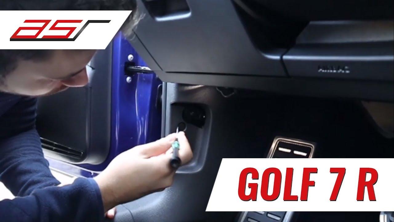 Golf 7 R - Montage Klappensteuerung RX2 mit SSA-Taste - asr-component #1