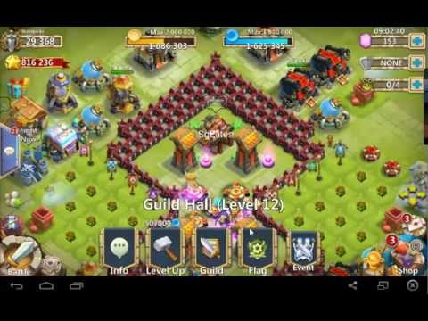 Castle Clash: Defeating Boss 3 With PD, CUPID, TG, Champ And Druid