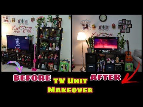 TV Unit Makeover/ Ikea Hack /Cleaning Motivation Vlog/Declutter&Organize/Remodeling Old Furniture