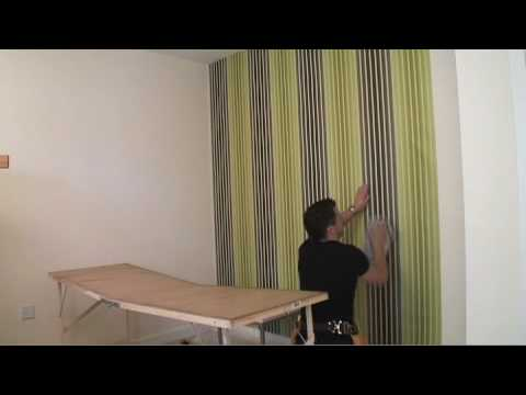 How To Put Up Wallpaper - YouTube