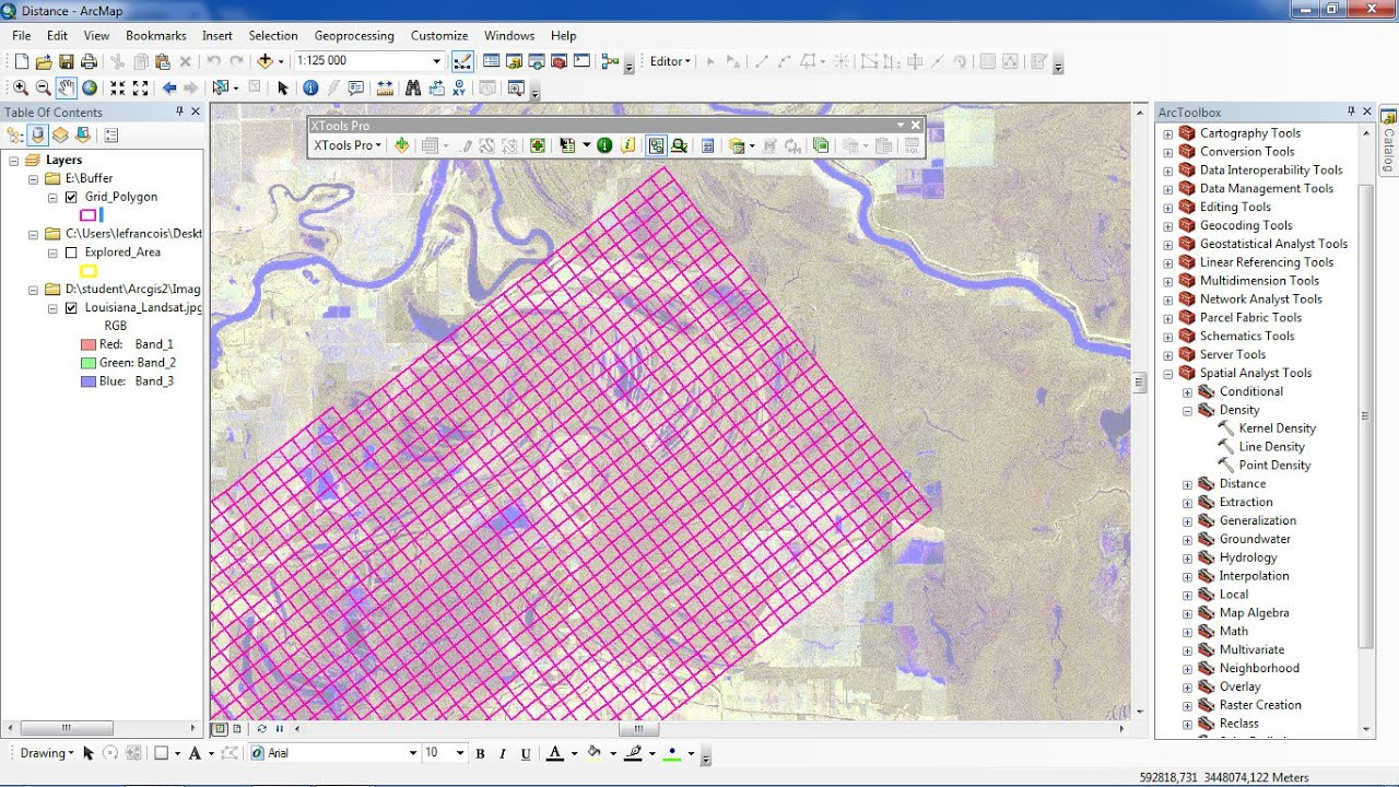 ArcGis How to rotate and create polygon grid usning XTools Pro