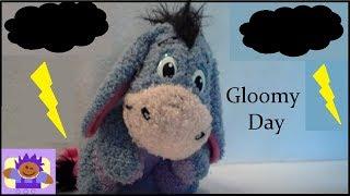 1999 Disney Winnie the Pooh singing Gloomy Day Eeyore Plush By Mattel