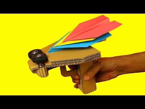 How to make Paper Plane Launcher from Cardboard at Home