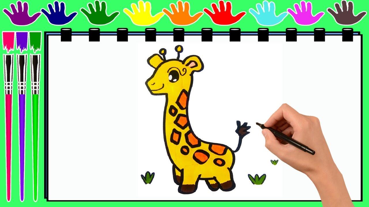 Dibujo para colorear JIRAFA | Páginas de dibujo para el color para ...