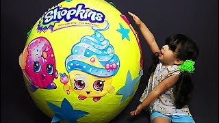 Giant Shopkins Surprise Egg & Big Egg Toys For Children 🌸 Video for Kids