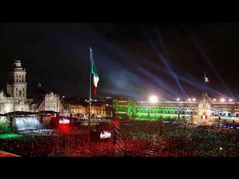 Ceremonia del Grito de Independencia 2019. Presidente de México, Andrés Manuel López Obrador