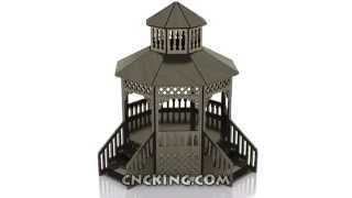 Cncking.com: Gazebo 3d Assembly Animation