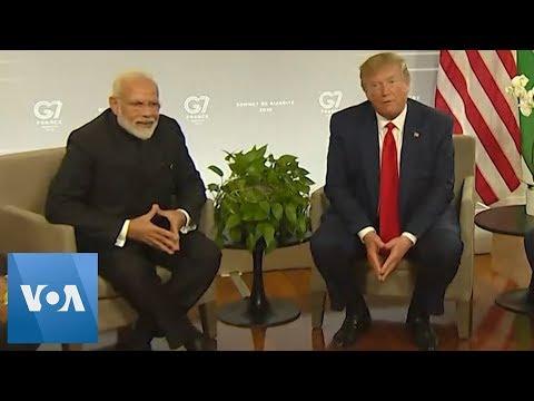 President Donald Trump and Indian PM Narendra Modi Meet at G7