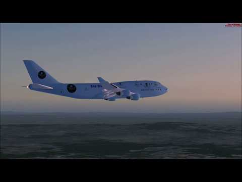 FSX Full flight from Madrid to Marseille with Boeing 747 Sea Shepherd