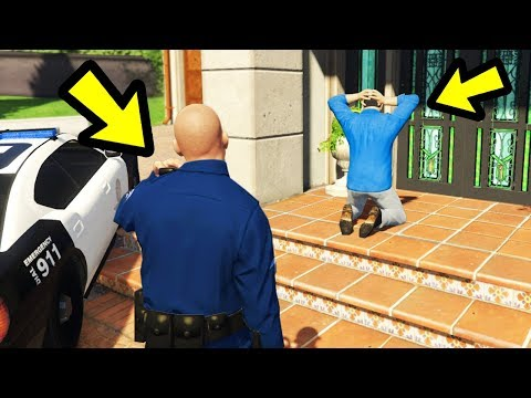 GTA 5 - What Happens if You Arrest Michael? (Police Mod)
