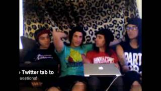Pierce The Veil Video Chat - 16/06/2010 - Day 4 - Part 1