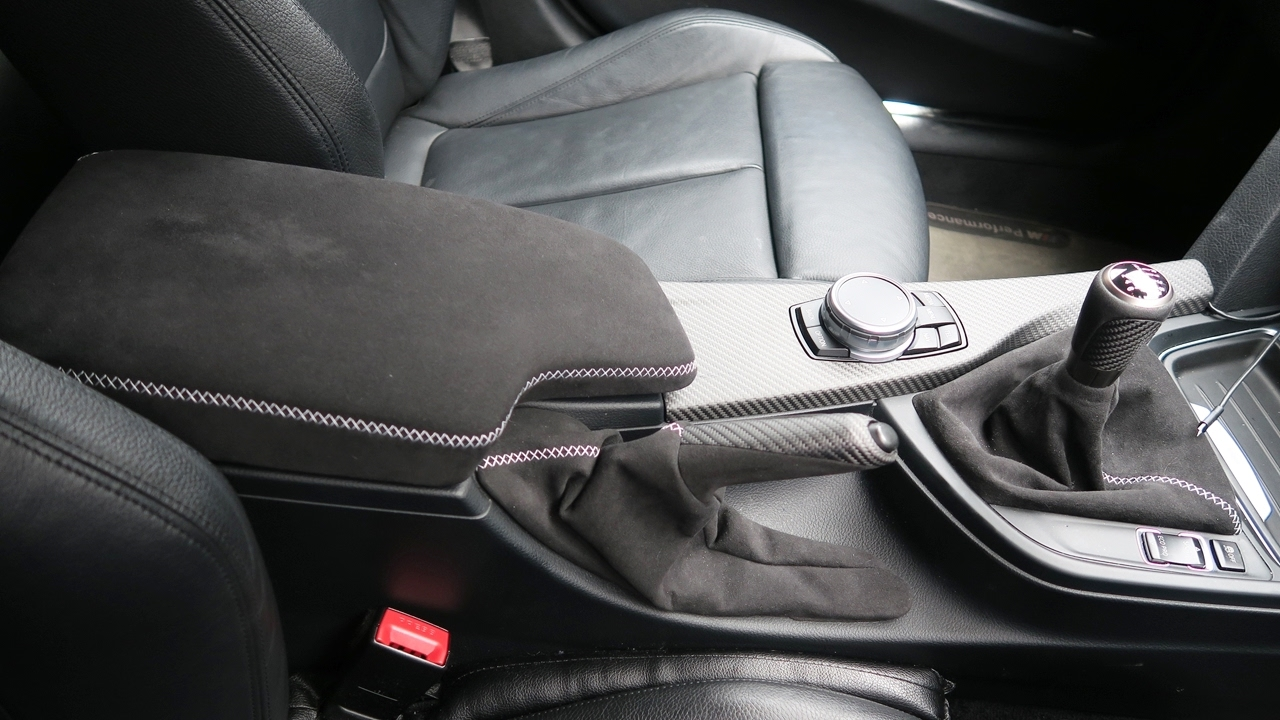Bmw F30 Oem Genuine M Performance Alcantara Armrest Boot Liner Youtube