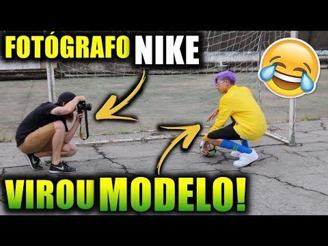 UM DIA COMO MODELO DA NIKE COM AS NOVAS CAMISAS DO BRASIL!!!