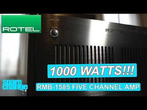 1000 WATTS! ROTEL RMB-1585 Five Channel  Home Theater Amplifier