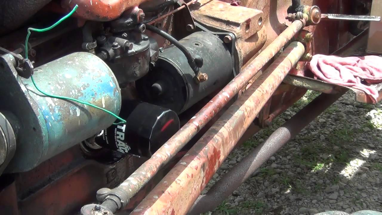 ford 600 tractor back together spin on oil filter and a few other