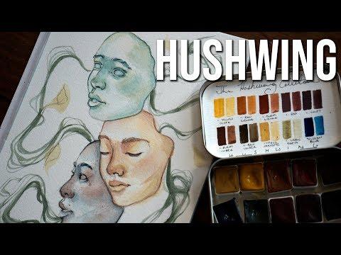 Hushwing Watercolors Review - Trying handmade watercolors!