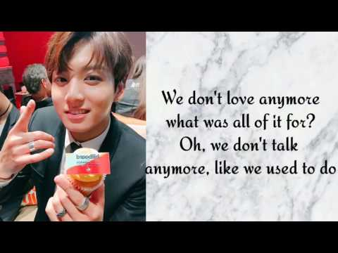 WE DON'T TALK ANYMORE || JUNGKOOK & JIMIN (COVER |LETRA)