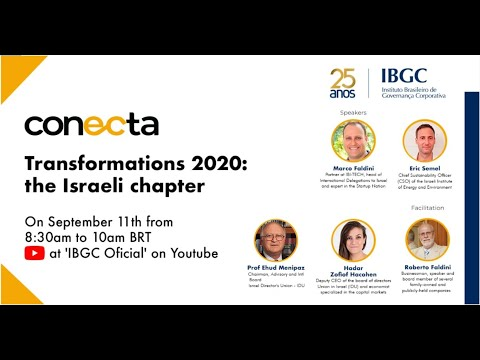 IBGC Conecta -  Transformations 2020 : The Israeli Chapter