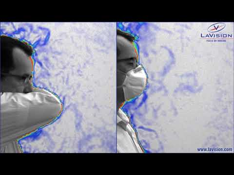 Covid-19 : LaVision imaging technique shows how masks restrict the spread of exhaled air