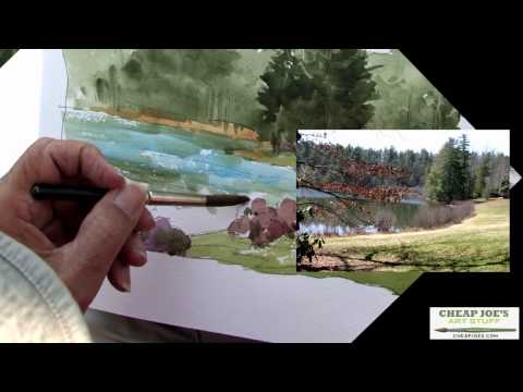 Don Getz Watercolor Techniques - Artist Journal - The Lake Painting