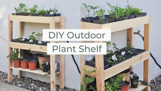 diy outdoor plant shelf