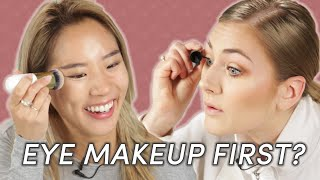 Foundation Vs. Eye Makeup: Which Do You Apply First?