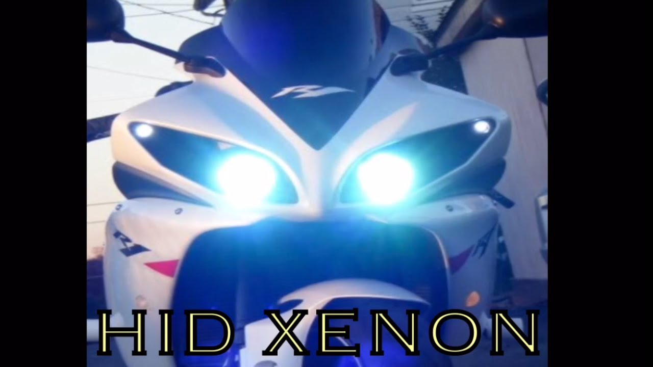small resolution of hid xenon kit installation on motorcycle yamaha r1
