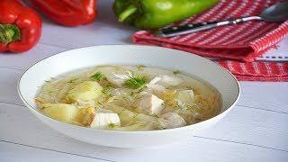 Суп щи из квашеной капусты с курицей