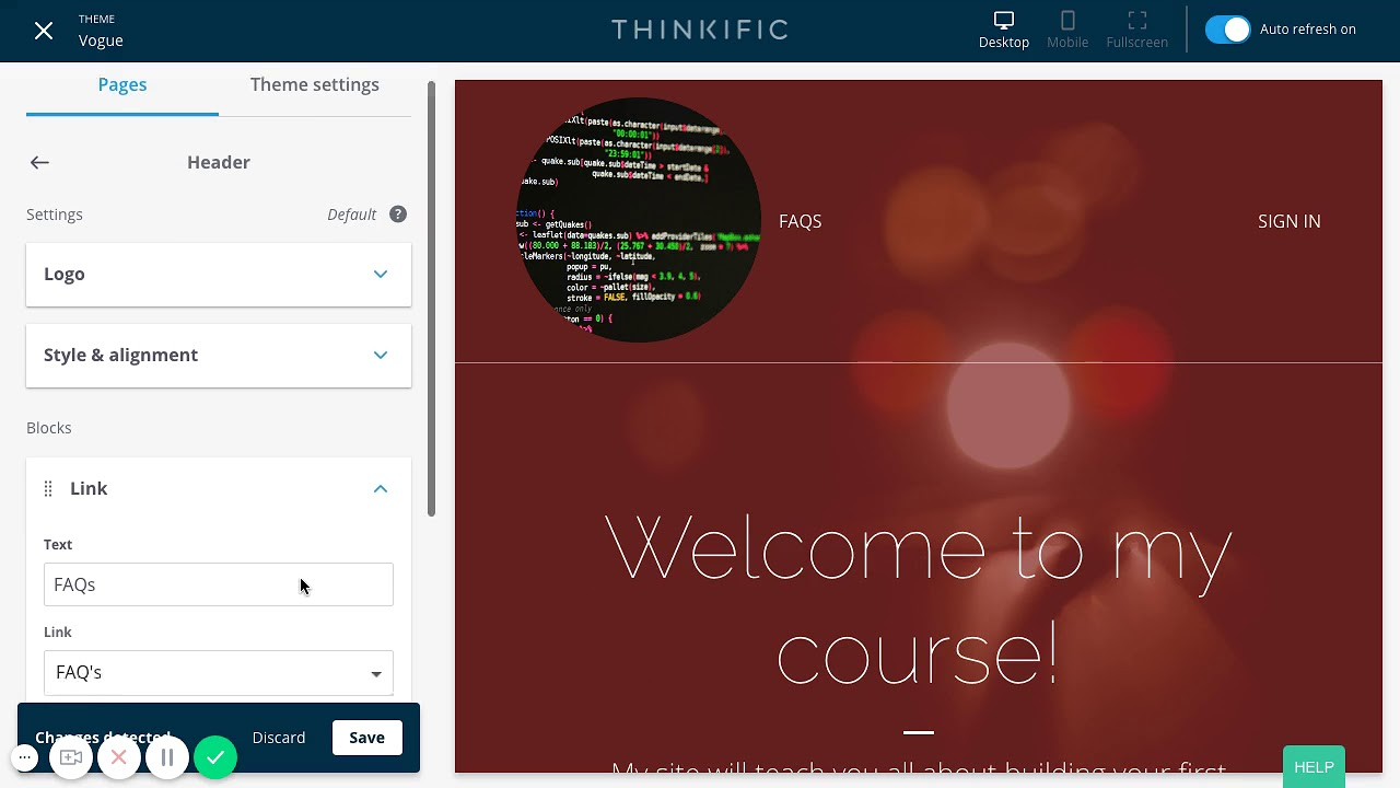 How to Create a Custom URL in Thinkific's Site Builder Theme
