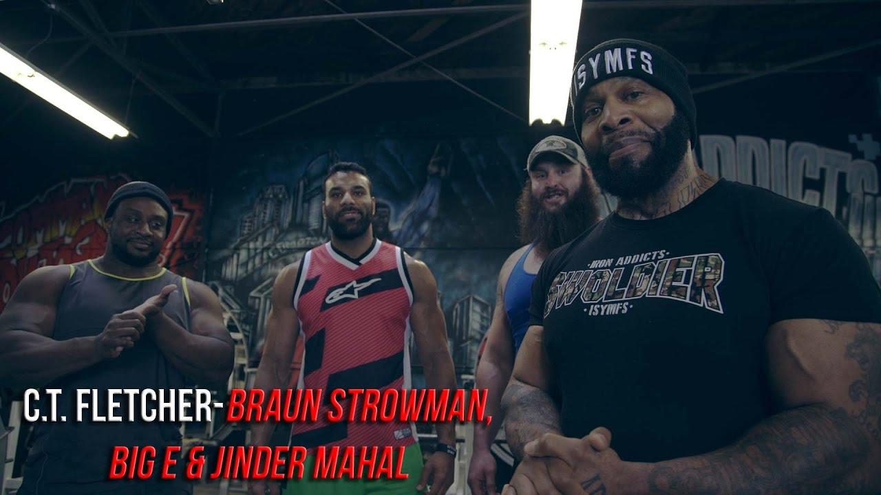 Watch Big E And Braun Strowman's Insane Arm Workout With C T  Fletcher