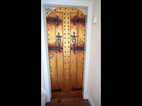 How to Paint Tutorial Vintage Castle/Church  Door Effect DIY Project