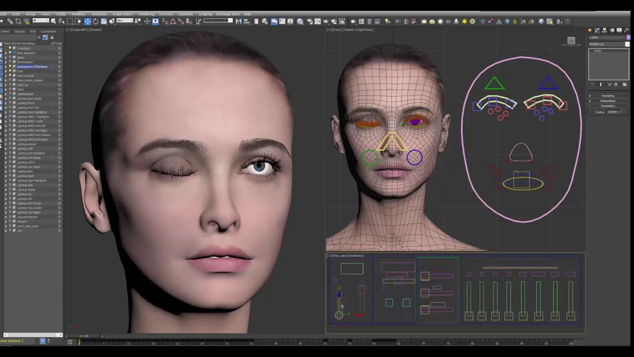 Fully Rigged 3DS Max Female Woman / Gril Human Character W Facial & Full  Body Rigs Ready to Animate