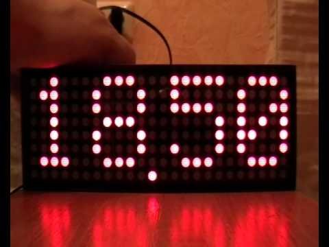 Led Matrix Digital Clock 8x24 Youtube