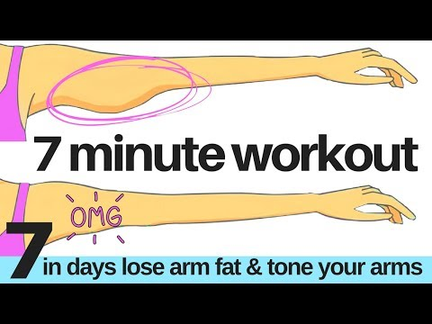 7 DAY CHALLENGE - 7 MINUTE WORKOUT TO LOSE ARM FAT & TONE YOUR ARMS - ARM EXERCISE FOR WOMEN AT HOME