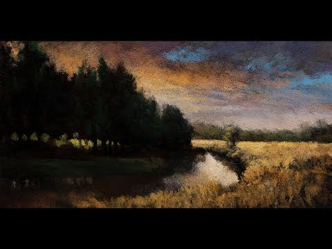 Creek at Sunset 5×10 Tonalist Landscape Oil Painting Demonstration