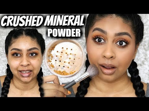 PURE CRUSHED MINERAL POWDER FOUNDATION?! DOES IT WORK ON ITS OWN??
