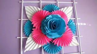 DIY Simple Home Decor Wall Decoration Hanging Flower Paper Craft Ideas 2