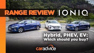 RANGE REVIEW: 2019 Hyundai Ioniq hybrid, PHEV and EV