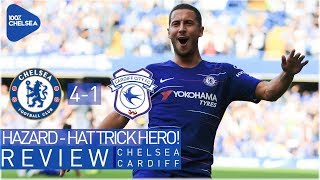 CHELSEA 4-1 CARDIFF || HAT TRICK FOR INCREDIBLE HAZARD! || TOP OF THE LEAGUE!