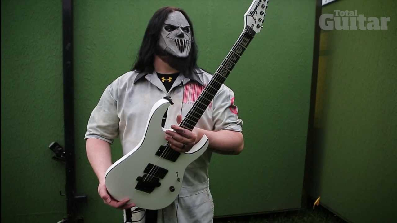 me and my guitar slipknot 39 s mick thomson and his ibanez custom shop signature youtube. Black Bedroom Furniture Sets. Home Design Ideas
